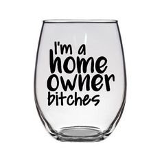 Excited to share the latest addition to my #etsy shop: I'm a home owner bitches stemless wine glass / house warming gift / gift for couple / gift wine glass / home owner wine glass / curse #homeowner #housewarminggift