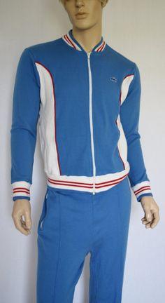 Vintage 1970's 80's Men's IZOD Lacoste CoLoR BLockeD Striped Track Suit Jacket