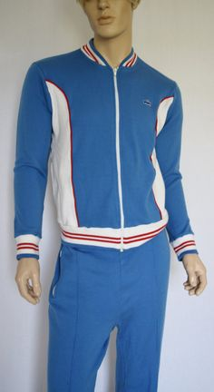 Vintage 1970's 80's Men's IZOD Lacoste CoLoR BLockeD Striped Track Suit Jacket