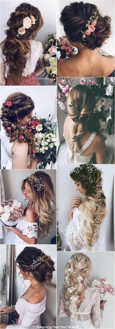 65 New Romantic Long Bridal Wedding Hairstyles to Try 65 neue romantische lange Braut Hochzeit Frisu Wedding Hairstyles For Long Hair, Wedding Hair And Makeup, Pretty Hairstyles, Hair Makeup, Bridal Hairstyles, Hair Wedding, Pixie Hairstyles, Updos Hairstyle, Layered Hairstyles