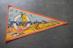 Check out this item in my Etsy shop https://www.etsy.com/uk/listing/528453256/vintage-travel-pennant-a-souvenir-flag