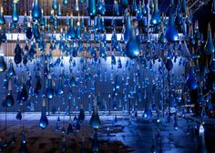 Interactive rain by Luz Interruptus