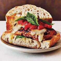 Chicken Parmesan Burgers | CookingLight.com