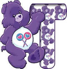 From: Teresa Shaw Fisher - Alfabeto Morado de Care Bears, Ositos Cariñositos.