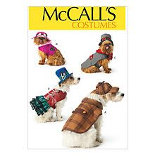 Buy McCall's Pets Costume Sewing Pattern, One Size Online at johnlewis.com