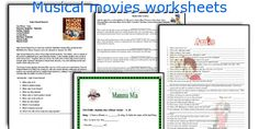 Musical movies worksheets