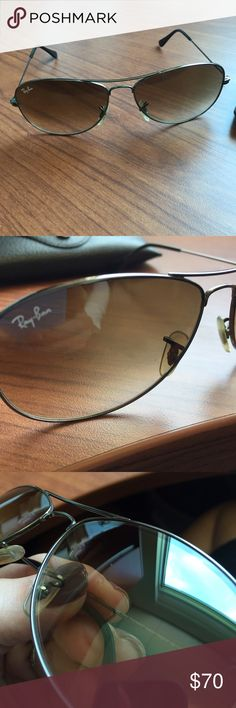 """Ray-Ban 3362 Sunglasses 😎 Authentic Ray-Ban 3362 """"Cockpit"""" sunglasses. These are used and DO have some minor scratches on the lenses. I tried to show them in the photos. They will come with the case. They are a great color that go from dark to light. Please comment with any questions. Great glasses!! 😎 Ray-Ban Accessories Sunglasses"""