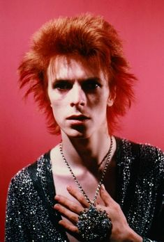 David Bowie in Space Oddity photo session by Mick Rock.