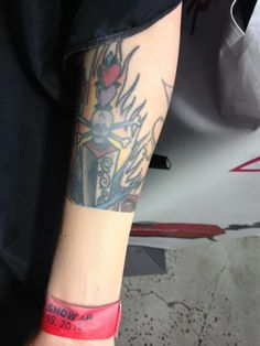 tattoo cover-up with Dinair