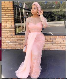 Wanna Be a Trendsetter Checkout These Eye-popping Aso-Ebi Styles – EsB TV African Lace Styles, African Lace Dresses, African Fashion Dresses, African Style, African Beauty, African Clothes, African Design, Lace Dress Styles, Aso Ebi Styles