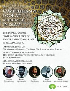 A detailed course on Marriage in Islam! For more details on this course go to : http://www.lamppostproductions.com/a-comprehensive-look-at-marriage-in-islam/