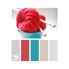 weekend colour inspiration woolly brights colour scheme ❤ liked on Polyvore featuring colors, color palettes, palettes, backgrounds and decor