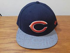 2cef7076ca9 New Era 59Fifty Chicago Bears NFL Draft Reflective Hat Cap 7 5 8 Fitted  Football