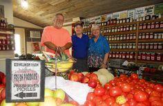 "Love fresh produce! Me and ""Dreamy D"" met ""Farmer Bill"" at Willmon Farm in Splendora!"