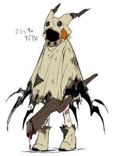 Mimikyu dress, pokemon fan art, pikachu, psychic pokemon, ghost, cosplay idea