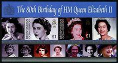 British Indian Ocean Territory 80th Birthday QEII Stamps