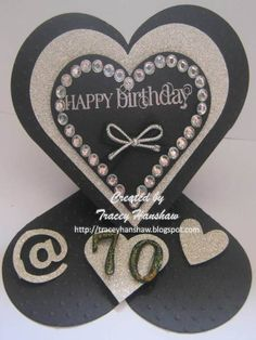 GOTHIC ELEGANCE EASEL 70th BIRTHDAY CARD WITH STAMPIN UP SIZZIX FRAMELITS