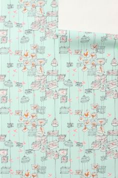 Lark wallpaper from Anthropologie - I have just ordered some for  the Lark office, yay!