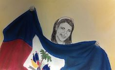 "Self portrait: ""National Pride"" Chalk pastel and Ink- Gianna Riccardi"