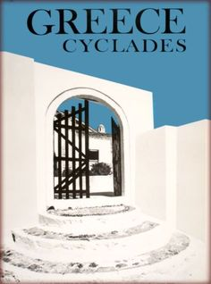 Greece-Greek-Isles-Islands-Isle-Cyclades-Vintage-Travel-Advertisement-Poster