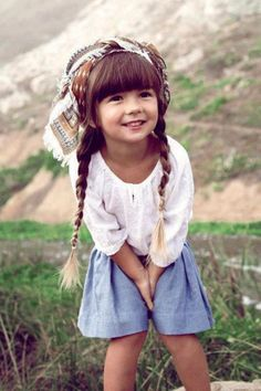 adorable girl! Love her #hair! theberry.com #saarloveskids