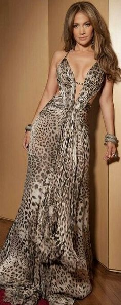 Cheetah / leopard Omg I want this!!!!!!! I wish I could wear long dresses!! Damn my shortness!!!