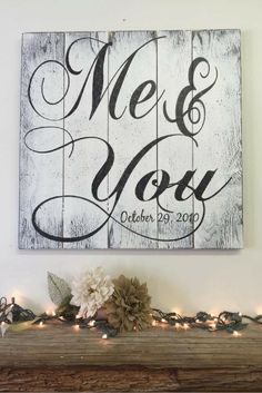 Beautiful Me & You Rustic Pallet Sign