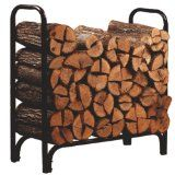 Panacea 15203 Deluxe Outdoor Log Rack, Black, The panacea deluxe outdoor log rack keeps your firewood neat, clean, and dry. Cured wood burns better than Firewood Rack Plans, Outdoor Firewood Rack, Firewood Holder, Firewood Logs, Firewood Storage, Firewood Stand, Foyers, Fireplace Logs, Fireplaces