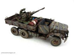 Somali M35 Truck with a mounted ZU-23-2 AA gun | 1:35 scale