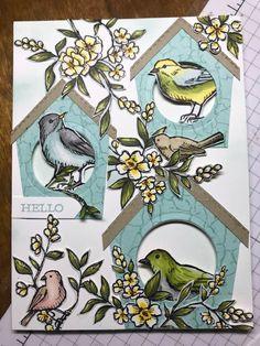 Bird Ballad from Stampin Up! Bird Free, Bee Cards, Bird Crafts, Stampin Up Catalog, Fancy Fold Cards, Stamping Up Cards, Butterfly Cards, Heartfelt Creations, Animal Cards
