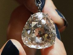 """Beau Sancy Diamond..The Beay Sancy is a modified """"pear double rose cut"""" diamond that originates in India and weighs 34.98 carats. Highly valuable, the Beau Sancy was auctioned off at Sotheby's in Geneva for no less than $9.57 million. Its name was given honoring Nicolas de Harlay, Lord of Sancy, who brought it from India to France to be acquired by the country's queen, Marie de Medicis"""