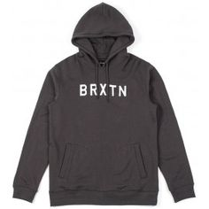BRIXTON MURRAY HOODED PULLOVER - Whashed Black