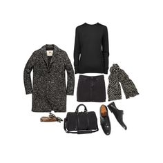 """""""Untitled #148"""" by coffeestainedcashmere on Polyvore (change out the denim skirt)"""