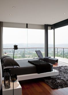 House Lam | Bedroom | Nico van der Meulen Architects. What a gorgeous bedroom. Wanna wake up every day to this spectacular view.
