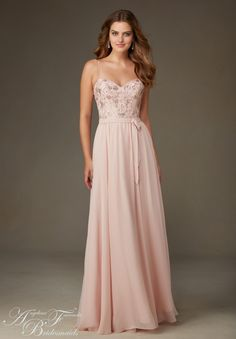 Bridesmaids Dress 20471 Chiffon with Beading