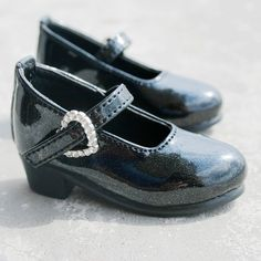 133# Black 1/4 MSD AOD DOD BJD Dollfie PU Leather Shoes