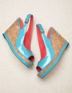 Patent Slingback Wedges  $148.00