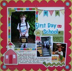 scrapbook layouts school | First Day of School - Scrapbook.com