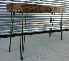 Resultado de imagen para mesas pata metal