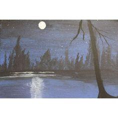 Moonlight Scene Hand Painting Art, Acrylic Painting Canvas, Paint Types, Custom Paint, Moonlight, Scene, Hand Painted, History, Artwork