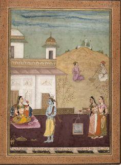 Page from a Dispersed Rasakapriya (Lover's Breviary) - Rajasthan, Bikaner, c.1685