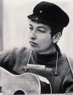 """Today in Bob Dylan makes his first recordings, versions of """"San Francisco Bay Blues"""" and """"Jesus Met the Woman at the Well,"""" at the home of friends Sid and Bob Gleason in East Orange, NJ. Bob Dylan First Album, Lps, Minnesota, Billy The Kid, Nobel Prize Winners, Joan Baez, Cinema, Star Wars, Beatnik"""