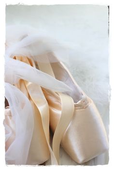 Pointe shoes. There is nothing like the smell of a new pair of pointe shoes and the feeling you get when you take them out of the box for the first time <3