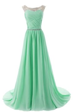 A-line/Princess Prom Dresses, Mint Prom Dresses, Long Prom Dresses, Long Mint Prom Dresses With Beaded/Beading Sweep train Round Sale Online, Dresses On Sale, Prom Dresses Online, Prom Dresses On Sale, Prom Dresses Long, Mint Prom dresses, Prom dresses Sale, Online Prom Dresses, Prom Long Dresses