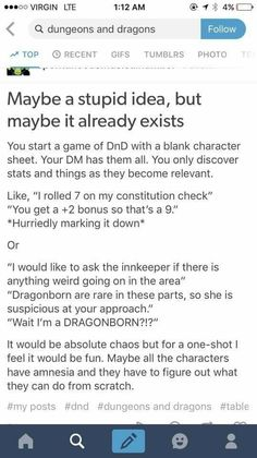 One shot D&D idea