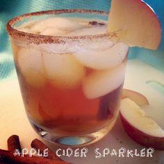 Skinny Apple Cider Sparkler Cocktail.
