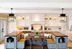 Unique kitchen cabinet table!