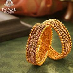 This festive season bring home 'Fortunes of Gold' ✨ This product is exclusively available at Talwar Jewellers Elante store, Chandigarh. Gold Bangles Design, Gold Earrings Designs, Gold Jewellery Design, Gold Wedding Jewelry, Gold Jewelry, Jewelery, Talwar Jewellers, Antique Jewellery Designs, Bridal Bangles