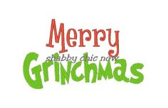 Merry Grinchmas Embroidery Design (2 digital files). $3.50, via Etsy.