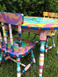Kids Table and Chairs, Table and Chairs for Kids, Children's Table and Chairs Set, Personalized Table and Chairs for Kids by elliesshop on Etsy https://www.etsy.com/listing/74160623/kids-table-and-chairs-table-and-chairs